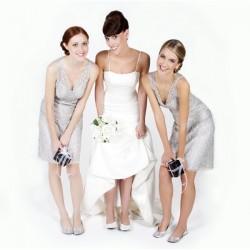 Ballerines de mariages dans un sac cadeau