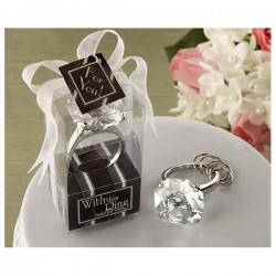 Porte-clefs cristaux de diamant