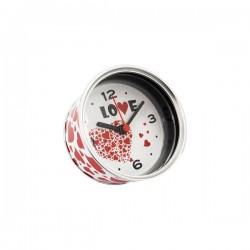 """Horloge réveil  en aluminium """"LOVE"""""""