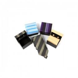 Jeu Cravate  normal et boutons de manchette  + coffret cadeau